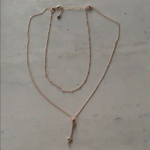 Rose gold tone necklace